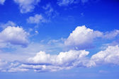 Landscape with the blue sky and clouds — Stock Photo