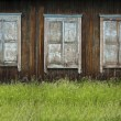 Three old Window — Stock Photo
