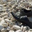 Stock Photo: A pair of black shoes