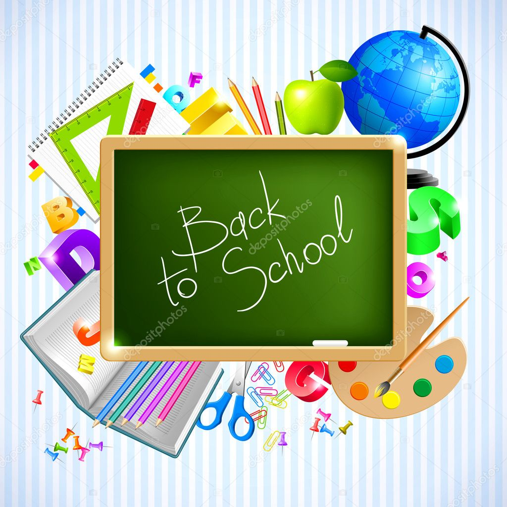 Back to school vector background — Image vectorielle #3713409
