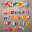 Funny 3d Font - Stok Vektr