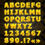 Golden font — Stock Vector