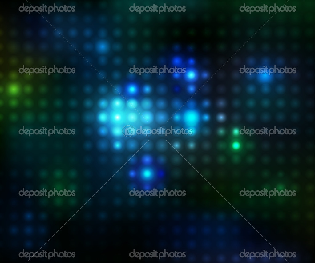 Vector lights on a black background — Stock Vector #3789060