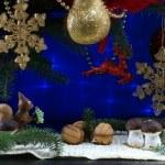 Under the Christmas tree — Stock Photo