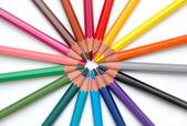 Rainbow Pencils Centered — Stock Photo