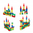 Stock Photo: Box of bricks: big castles
