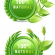 Royalty-Free Stock Photo: Natural products label