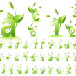 Green alphabet - Stock Photo