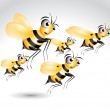 Happy Bee Character — Stock Photo