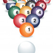 Royalty-Free Stock Photo: Pool game balls