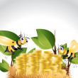 Happy Bee Character - Stock Photo