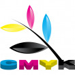 CMYK Colors — Stock Photo