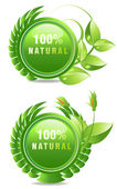 Natural products label — Stock Photo