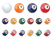 Pool game balls — Stock Photo