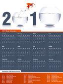 2010 Calendar — Stockfoto
