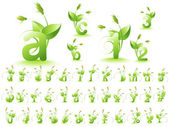 Green alphabet — Stock Photo