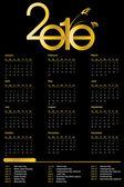 Kalender för 2010 — Stockfoto