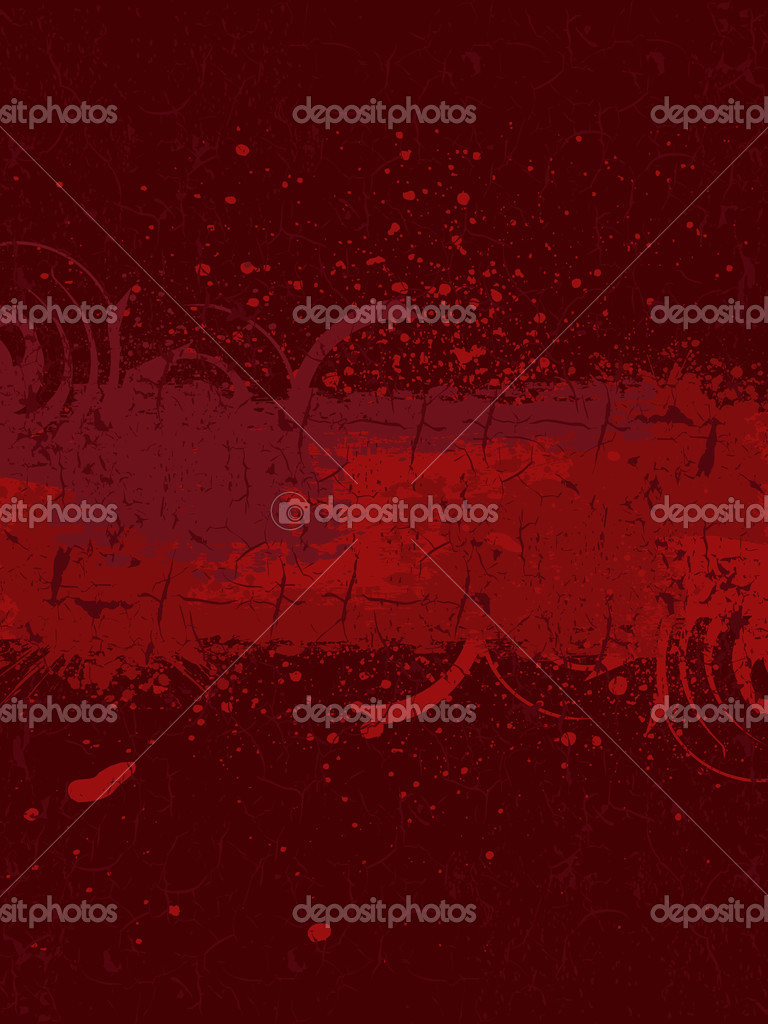 Vector illustration of Grunge banner with an inky dribble strip.  Stock Photo #3770132