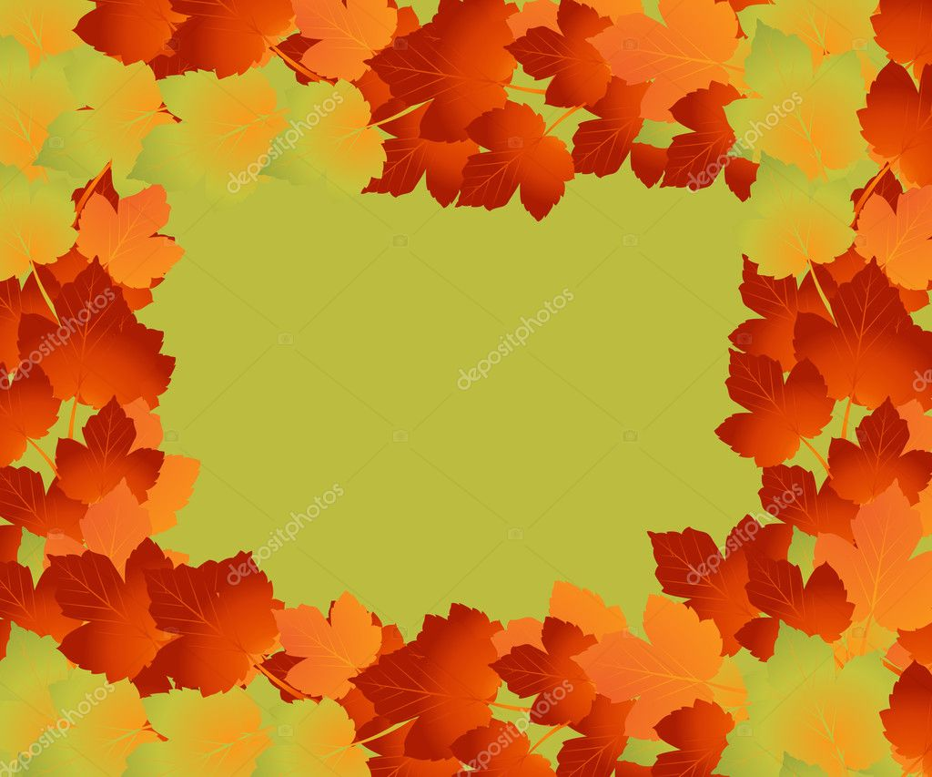 Colorful background of fallen autumn leaves  — Stock Photo #3771841