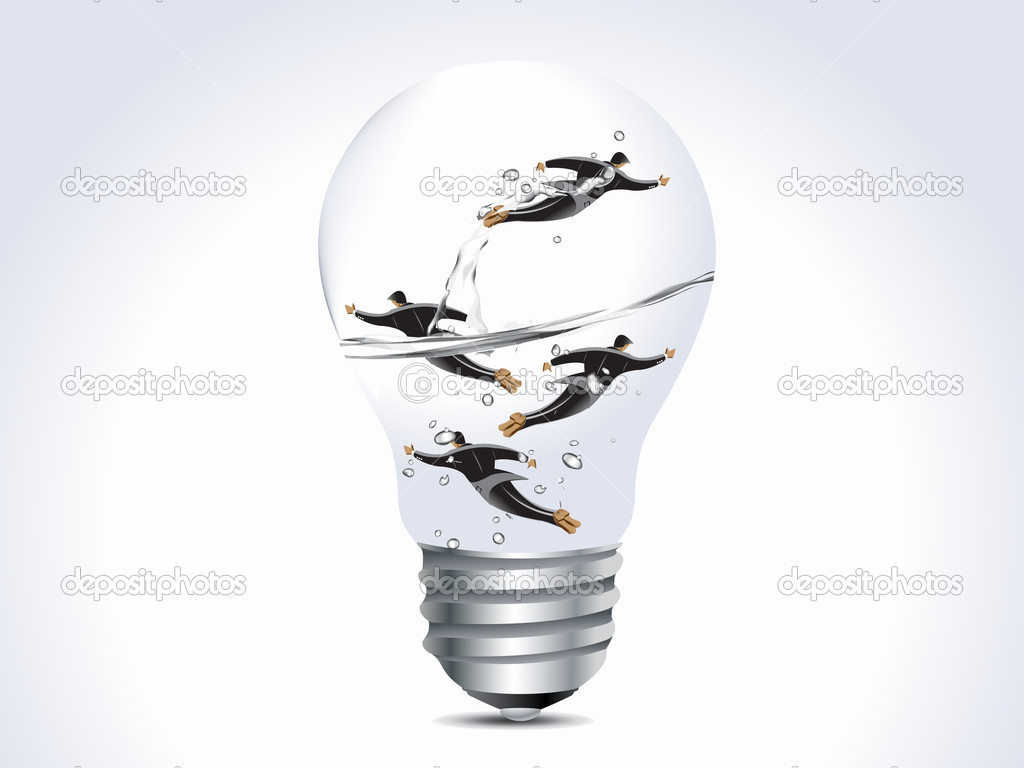 Business concept, four businessmen into lamp, limited opportunity. — Stock Photo #3774842