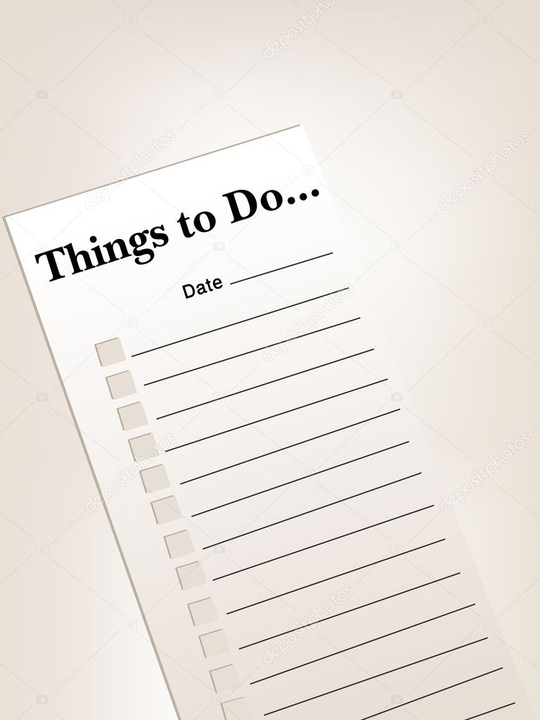 to do list or things to do list — Stock Photo #3777144
