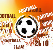 Stock Photo: Football concept background
