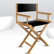 Vector de stock : Director chair