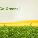 GO GREEN — Stock Vector