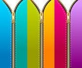 Zippers — Stock Vector