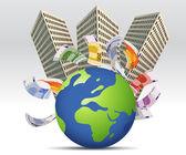 Business Background — Stockvector