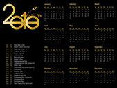 Kalender för 2010 — Stockvektor
