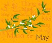 Mayıs — Stok Vektör