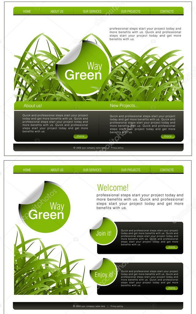 website template stock vector creativeapril 3872559. Black Bedroom Furniture Sets. Home Design Ideas