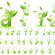 Royalty-Free Stock Imagem Vetorial: Green alphabet
