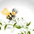 Royalty-Free Stock Vector Image: Happy Bee Character