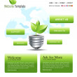 website template — Stock Vector