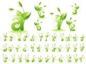 Green alphabet — Stock Vector