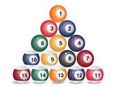 Pool game balls — Stock Vector