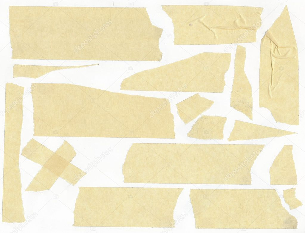Masking tape on a white background stock image
