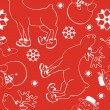 Stock Vector: Christmas reindeer pattern