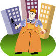 Stock Vector: Builder