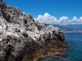 Rocky coast of Mediterranean sea — Stock Photo