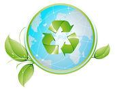 Recycling Globe — Stockvektor