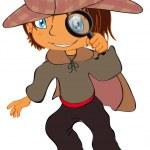 A little detective — Stock Vector #3785012