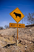 Cow Crossing Sign — Stock Photo