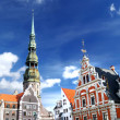 Old city in Riga, Latvia - Stock Photo