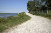 River side footpath — Stock Photo