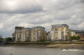 Riverside appartments — Stock Photo