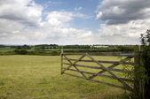 Farm gate — Stock Photo
