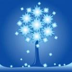 Blommande träd — Stockvektor